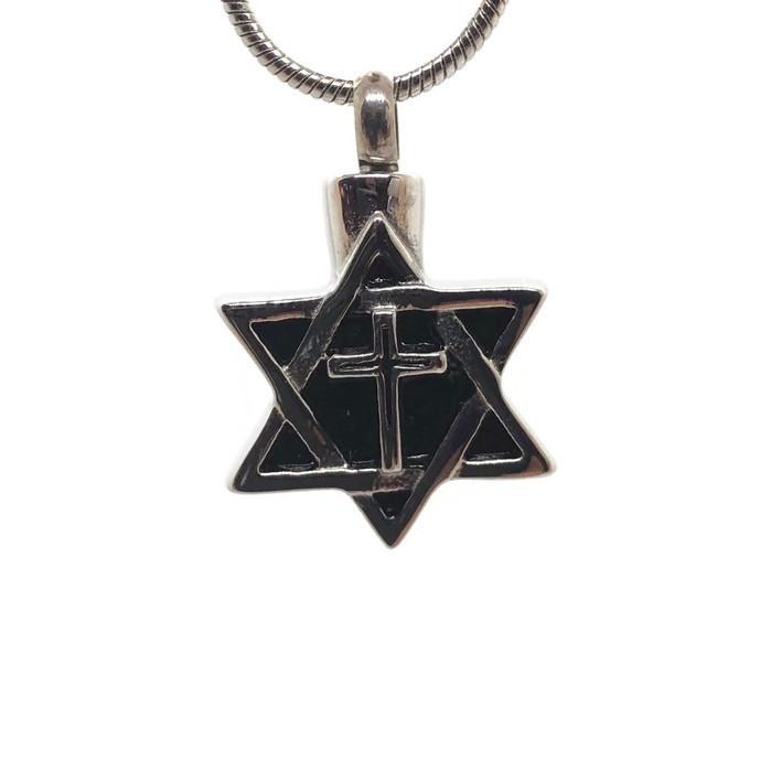 "Design 1114 Star of David Cross SGS, EN 3/4"" H x 3/4"" W"