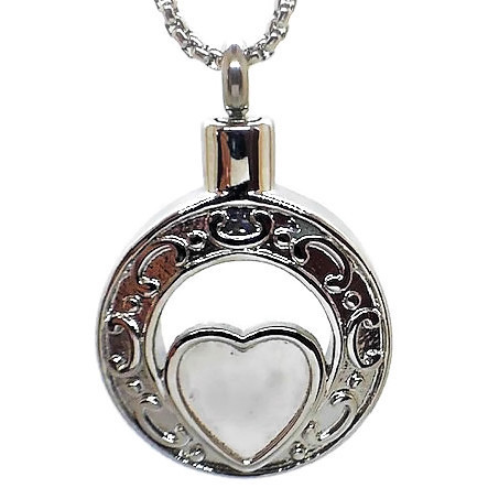 """Design 1368 Oval with Heart SGS 1"""" H x 1"""" W"""