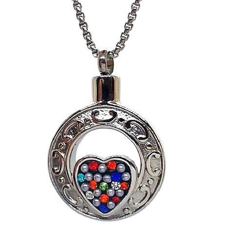 """Design 1383 Colorful Heart SGS, ZG 1"""" H x 1"""" W"""