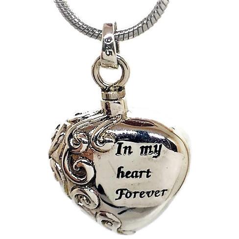 "Design 1424 'In My Heart' Sterling Silver 3/4"" H x 3/4"" W"