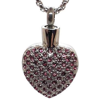"Design 1429 Gemstone Heart SGS., ZG, 1"" H x 3/4"" W"