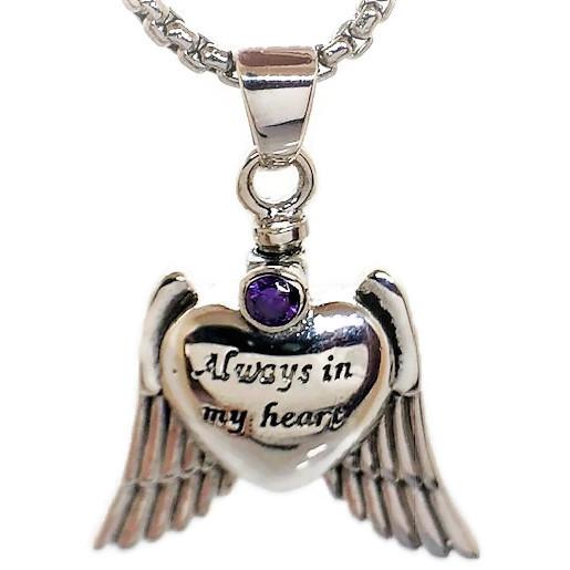 "Design 1436'Always in My Heart' Sterling Sliver EN, 1"" H x 1"" W"