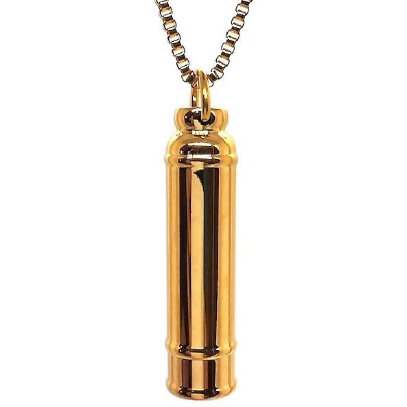 """Design 1502 Cylinder Urn SGS, 18Kt. GP 1 3/4"""" H x 1/2"""" W"""