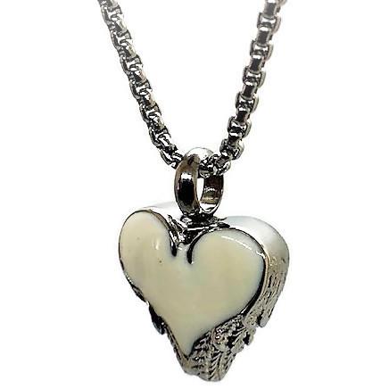 """Design 1518 Enameled Heart SGS., EN, 3/4"""" H x 3/4"""" W"""