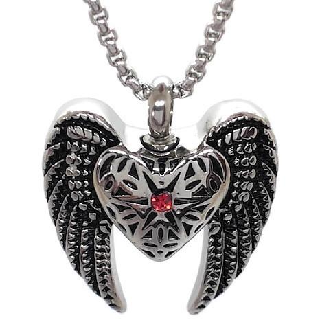 "Design 1530Gothic Heart / Wings SGS., ZG, EN, 1 1/4"" H x 1"" W"