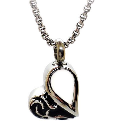 """Design 1536 Enameled Heart SGS., EN, 1"""" H x 3/4"""" W"""