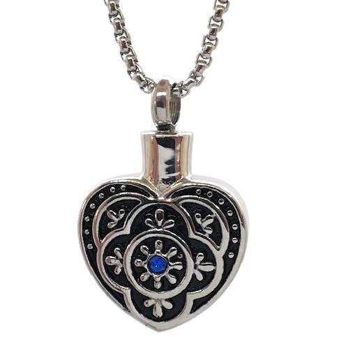 "Design 1609 Filigree Heart SGS., ZG, EN, 3/4"" H x 3/4"" W"