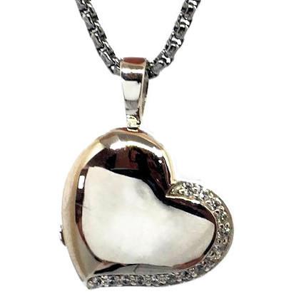 "Design 1614 Sterling HeartSterling Silver3/4"" H x3/4"" W"