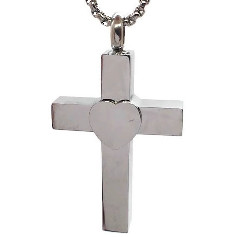 """Design 1636 Cross with Heart SGS., 1 1/2"""" H x 1"""" W"""