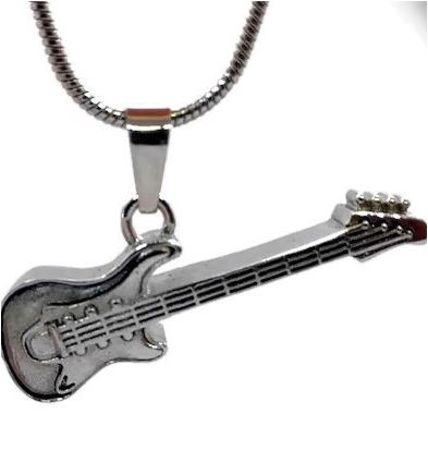 "Design 1702 Guitar Pendent SGS., EN, 3/4"" H x 3/4"" W"