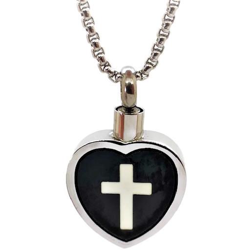 """Design 1715 Heart with Cross SGS., EN, 3/4"""" H x 3/4"""" W"""