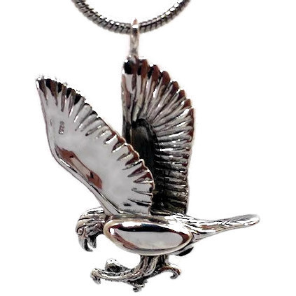 "Design 1718 Sterling Eagle Sterling Silver 1 1/4"" H x 1"" W"