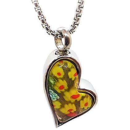 """Design 1725 Colorful Heart SGS., EN, 1"""" H x 3/4"""" W"""