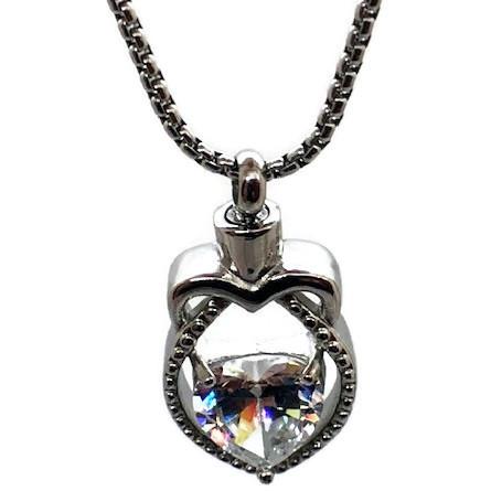 "Design 1801 Heart / Gemstone SGS, ZG, 1"" H x 3/4"" W"