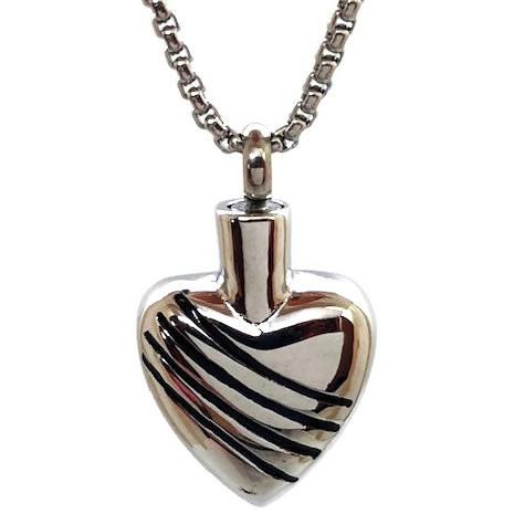 "Design 1816 Heart PendentSGS, EN3/4"" H x 3/4"" W"