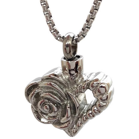 "Design 1905 Rose Heart SGS, EN, 1"" H x 1"" W"