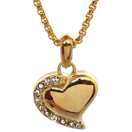 """Design 1924 Gemstone Heart SGS, 18Kt. GP, 3/4"""" H x 3/4"""" W"""