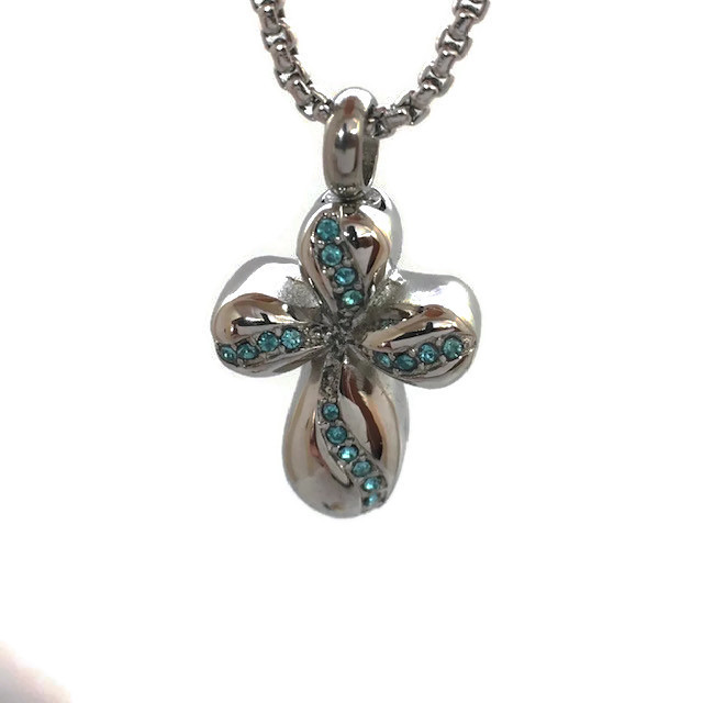 "Design 1933 Cross / Gemstones SGS, ZG, EN, 1"" H x 3/4"" W"