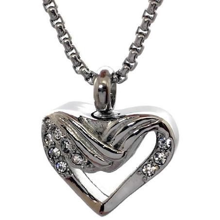 "Design 2038 Draped Heart SGS, ZG, EN, 3/4"" H x 3/4"" W"