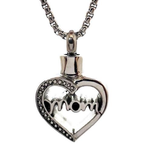 """Design 2107 'Mom' Heart SGS, EN, 3/4"""" H x 3/4"""" W"""