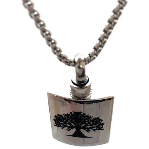 "Design 2136 Tree / Life Flask SGS, EN, 1"" H x 3/4"" W"