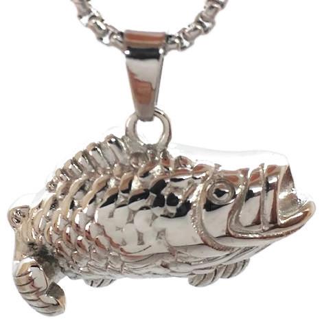"Design 2486 Fish Pendent SGS, EN, 1 1/4"" H x 3/4"" W"