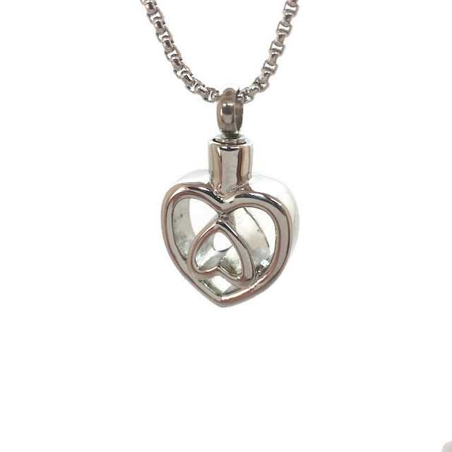 "Design 2487 Heart Pendent SGS, 3/4"" H x 3/4"" W"