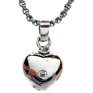 "Design 2609 Sterling Heart Sterling Silver 1/2"" H x 1/2"" W"