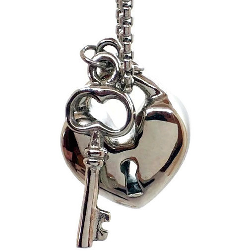 """Design 2615 Heart / Key SGS, EN, 1"""" H x 3/4"""" W"""